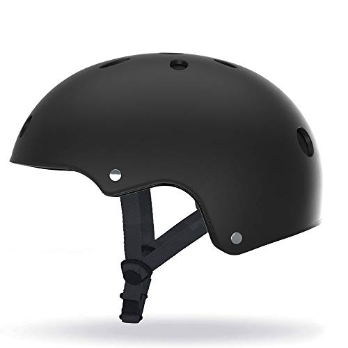 SCOOTY Casque pour Trottinette/Hoverbaord/Skate/Roller Taille Mixte Adulte, Noir, Medium
