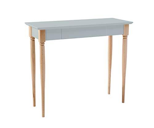 Ragaba MAMO Schreibtisch mit Schublade - FSC® Holz - Gedrechselte Beine - 65 cm Breit x 40 cm Tief x 75 cm Höhe