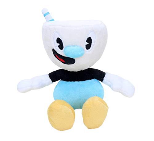 Hanyyj Juguetes De Peluche Juego Cuphead Y Mugman Mecup and Brocup Evil Boss Legendary Chalice Doll Soft Stuffed Doll Regalos para Niños 22Cm