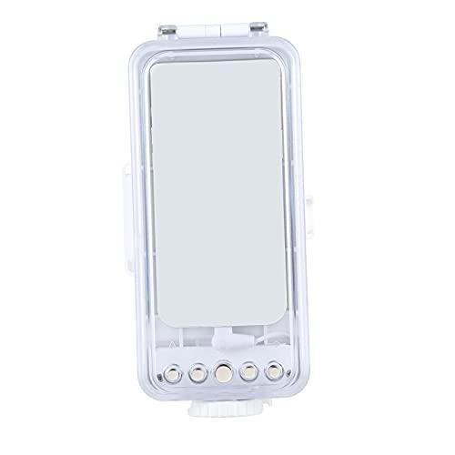 H HILABEE 45m/147ft Carcasa de Buceo Impermeable Carcasa subacuática para iPhone 12 Series iOS 13,0 o Superior