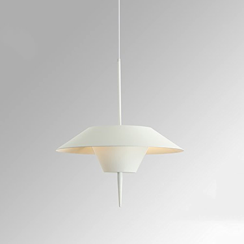 Nordic Schmiedeeisen Kronleuchter, postmoderne LED Cafe Kreative Dekorative Leuchter Deckenleuchten Mode Schlafzimmer Büro Esstisch Pendelleuchte (Farbe   Wei)