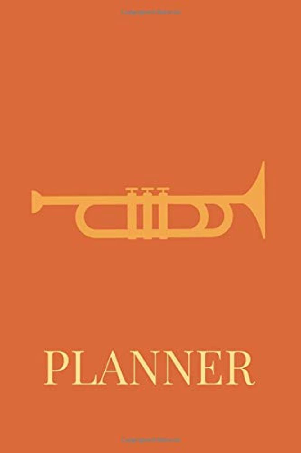 Planner: Undated 52 Weeks Organizer With Weekly Agenda, Goal Setting, Reflection And Motivational Quotes With Instrument Trumpet Cover