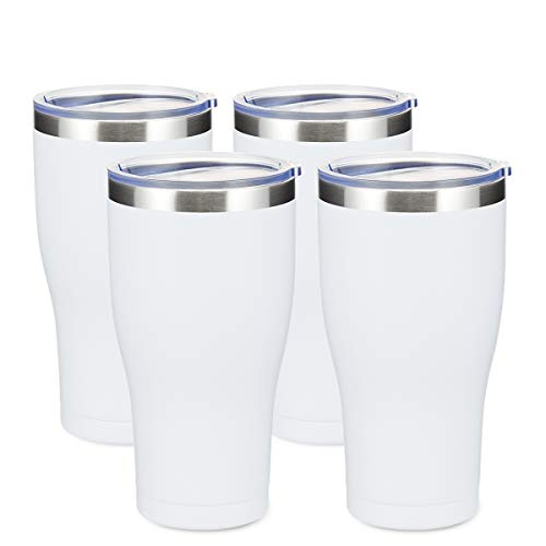 COKTIK 30oz Tumbler 4 Pack Double Wall Vacuum Insulated Travel Mug, Stainless Steel Coffee Tumbler with Lid, Durable Powder Coated Coffee Cup, Keep Drinks Cold & Hot
