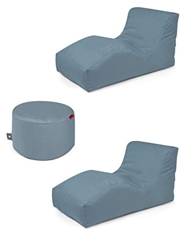 Outbag 3er Set Sitzsack 2 Wave + Rock l Lounge l Stone