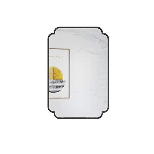 Decoración del hogar Espejos Espejo Decorativo De Marco De Metal, Baño De Hombres Afeitando Espejo Espejo De Longitud Completa Espejos de baño(Size:40 * 80CM,Color:A)