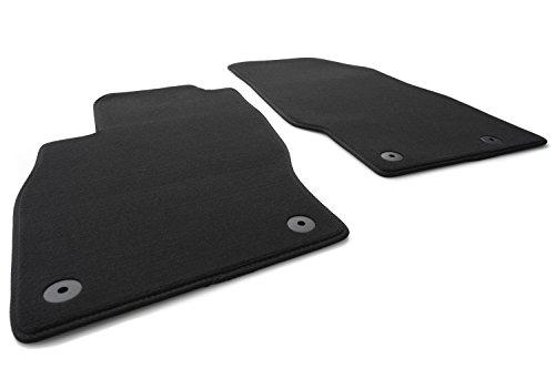 kh Teile Fußmatten Adam Velours Automatten Set, Passgenau, 2-teilig vorn, schwarz