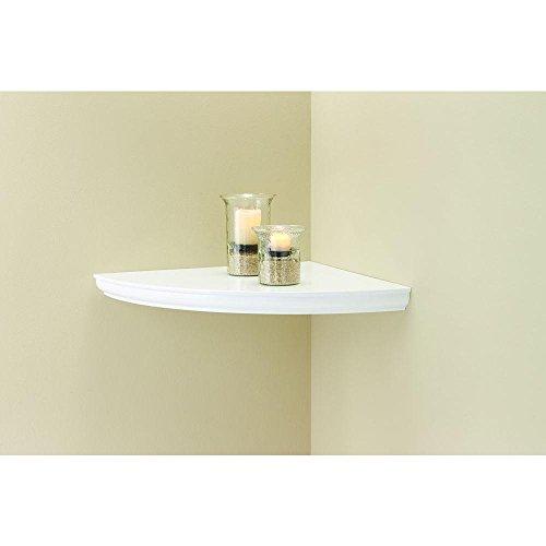 Home Decorators Collection 18 in. L x 18 in. W Profile White Corner Shelf