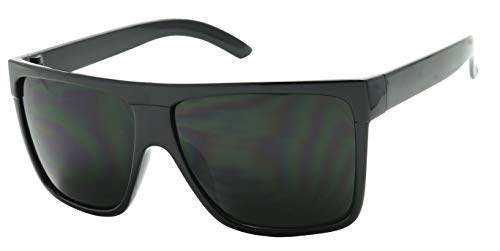 ShadyVEU Super Dark Black Lens Flat Top Square Oversize Migraine...