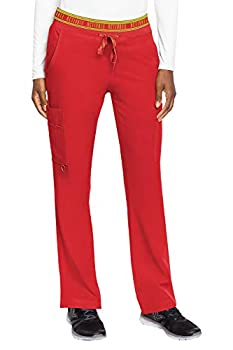 Med Couture Women s Activate Flow Yoga Two Pocket Cargo Pant Red XXX-Large