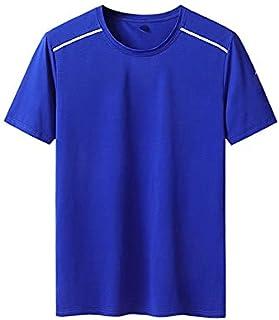 Fbnzmluqdx Tshirt for Men Super Large Size L-XL Men Summer Casual Brand Black Short Sleeve T-shirt ; Tops Man Elastic O-ne...