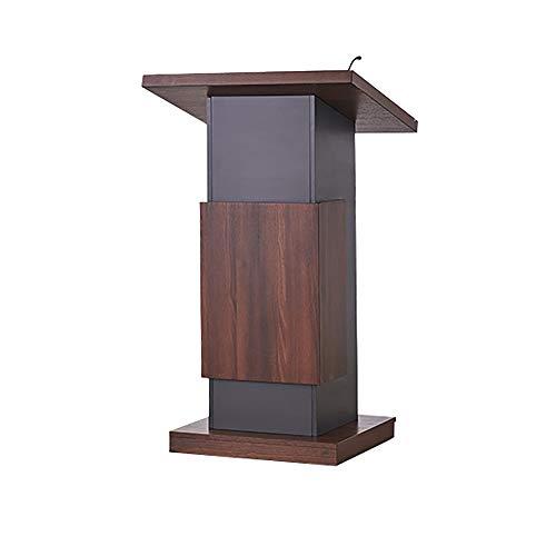 TnSok Stehendes Podium Holz Speaking Katheder Mit Storage Area Präsentationspodium for Standing Presenter (Color : Brown, Size : 118x60x70cm)