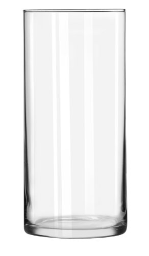 Libbey Cylinder Vase, 7-1/2-Inch, Clear, Set of 12
