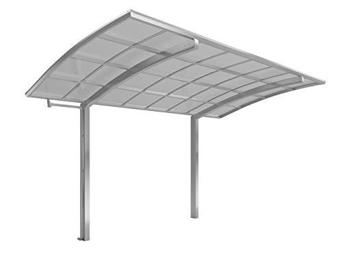 *XIMAX Aluminium Design-Carport Portoforte Standard-Ausführung Typ 80 Edelstahl-Look*