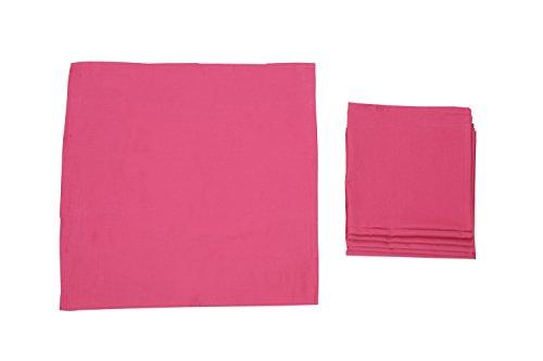 Pack 12 SERVILLETAS, 100%algodón, 45x45cm, calidad superior (FUCSIA).