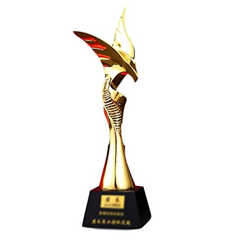 Trofeos Premios Corporativos Obsequios Conmemorativos Producción Metálicos Dorados Oro, Ceremonia, Regalo De Agradecimiento, Premios Deportivos (Color : Gold, Size : 30 * 8cm)