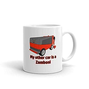 Funny Humor Novelty My Other Car Is A Zamboni Ice Hockey Sports 11oz Ceramic Coffee Tea Mug