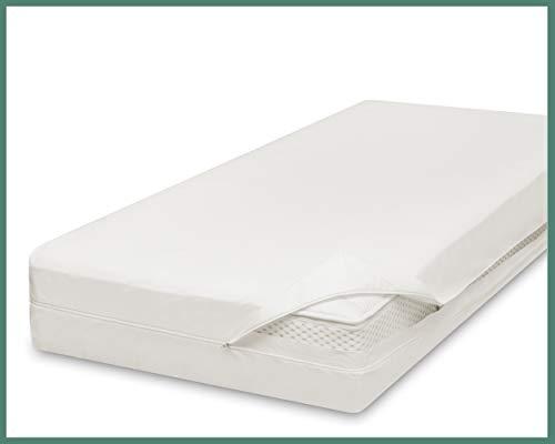 allsaneo Premium Encasing Matratzenbezug 140x200x20 cm, Allergiker Bettwäsche extra weich und leicht, Anti-Milben Zwischenbezug für Matratze