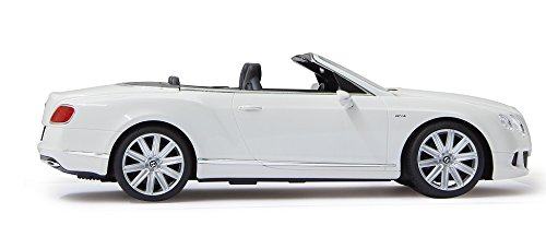 RC Spielzeug kaufen Spielzeug Bild 1: RC Bentley Continental GT Speed Convertible (Cabrio) - schwarz oder weiß - Maßstab: 1:12 - LED-Licht - ferngesteuert, inkl. allen Batterien - RTR - LIZENZ-NACHBAU (Weiß 40MHz)*