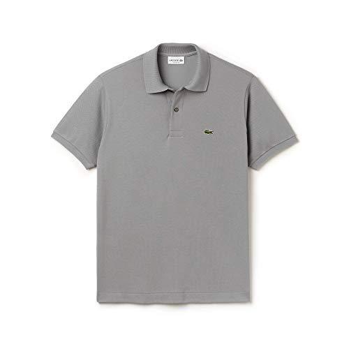 Lacoste L1212, T-Shirt Polo, Uomo, Grigio (Platine), FR 4