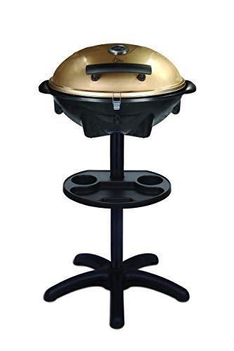 SUNTEC Elektrogrill BBQ-9479 auch als Tischgrill Geeignet | Grill mit Abnehmbarem Deckel und Regulierbaren Thermometer | Ideal für Balkon, Garten, Outdoor und Camping | Barbecue für mehrere Personen e