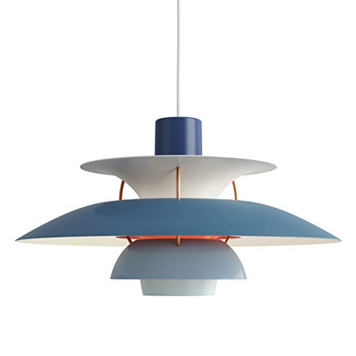 PH 5 Hängeleuchte, Louis Poulsen, Pendelleuchte Entworfen von Poul Henningsen (Nuancen von Blau)
