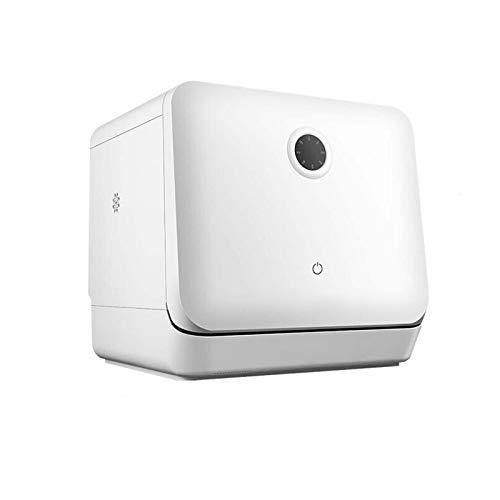 Mini Lave-Vaisselle - Autoportant, sans Installation, Lavage à 360 °, 5 Types de Nettoyage, contrôle Tactile, consommation d'eau : 5 litres - Blanc