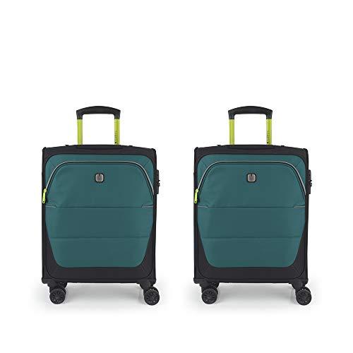 Gabol - Concept | Juego de Maletas de Viaje de Tela de Color Turquesa con 2 Maletas de Cabina
