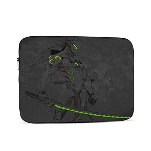 Genji Shimada Overwatch Laptop Case Made of High-Density Oxford Cloth Shockproof and Waterproof Laptop Sleeve Case Tablet Case Briefcase 13 inch