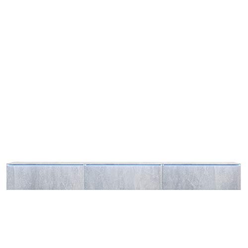 Selsey TV-Lowboard, Beton, Avec LED