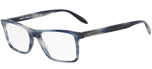 Giorgio Armani 0AR7163 Monturas de gafas, Striped Blue, 55 para Hombre