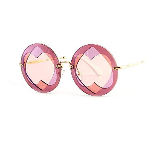 hqpaper Gafas estrella con gafas de sol en forma de corazón-Rosa