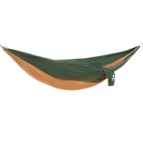 Multifonction Camping Hamac à suspendre Lit Double Taille [2.6 * * * * * * * * 1.3 m] Vert foncé 80/Camel
