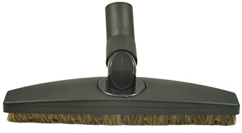 Floor Brush for Miele Canister Vacuum Cleaner Floor Tool Attachment. 35MM Spring Elbow - Side to Side Rotation - Up Down Swivel - Black 12' Wide - Horsehair Bristles