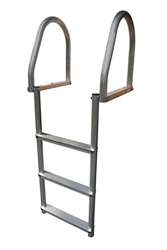 Dock Edge 2175-F Dock Ladder, 3 Step, Flip Up, Eco Weld Free, Aluminum
