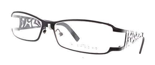 John Richmond Damen Brillengestell Schwarz/Weiß 52