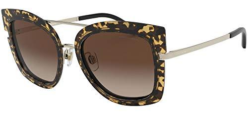 Giorgio Armani 0AR6090 Gafas de sol, Pale Gold/Top Havana Black, 54 para Mujer