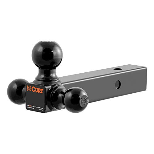 Affordable CURT 45652 Multi-Ball Trailer Hitch Ball Mount, 1-7/8, 2, 2-5/16-Inch Balls, Fits 2-Inch ...