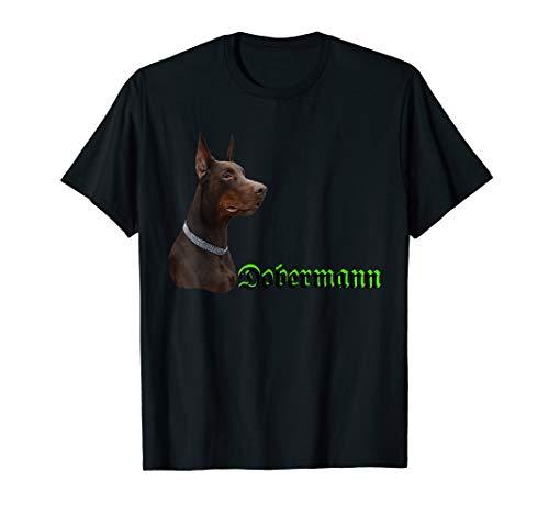 Dobermann T-Shirt für Damen und Herren brauner Dobermann T-Shirt