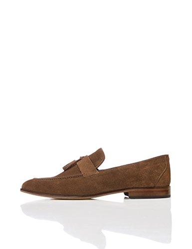 zapatos de ante marron hombre