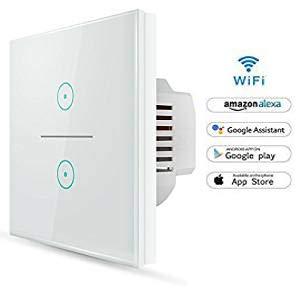 Wifi Interruptor Inteligente 2 Gang, Wireless Echo Interruptor...