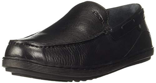 Woodland Men's Leather Moccasin-7 UK (41 EU) (8 US) (GC 2808118WS_Black)