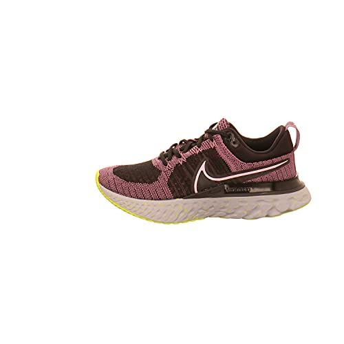 Nike W React Infinity Run FK 2, Zapatillas para Correr Mujer, Violet Dust Elemental Pink Black Cyber Photon Dust, 42 EU