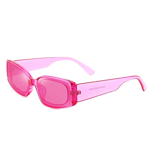 Dollger Rectangle Sunglasses for Women Retro PINK Y2K Sunglasses sugar Party 90s 00s sunglasses Pink