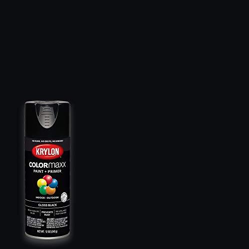 Krylon K05505007 COLORmaxx Spray Paint, 12 Ounce (Pack of 1), Black