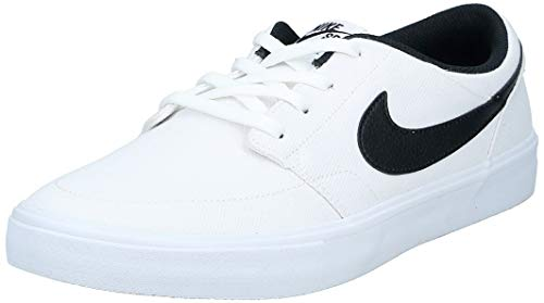 Nike SB Solarsoft Portmore II, Zapatillas de Skateboarding Unisex Adulto, Blanco (White/Black/White 100), 46 EU
