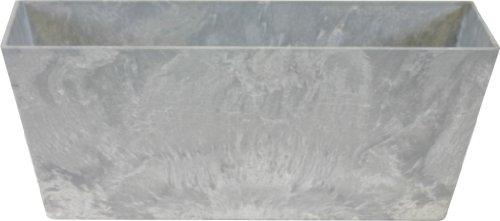 Ivyline Artstone 107833 Balkonkasten Ella, 37 x 17 x 17 cm, grau