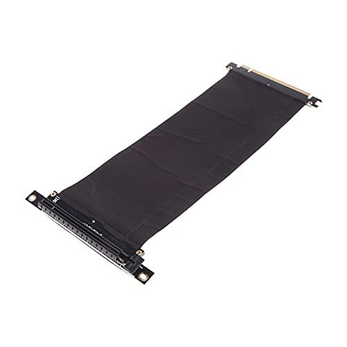 VVXXMO Tarjeta de cable flexible PCI Express PCIe3.0 16X a 16X,Adaptador de puerto de extensión,Tarjeta de ángulo de 90 grados