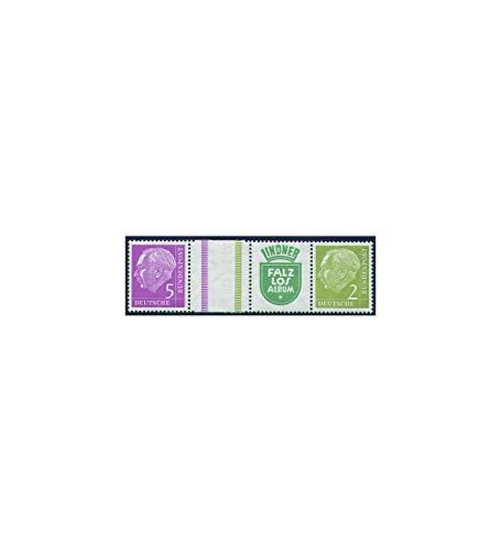 Goldhahn BRD Bund Zusammendruck WZ12 postfrisch ** Heuss 1956 (5+Z+R5+2) Briefmarken für Sammler