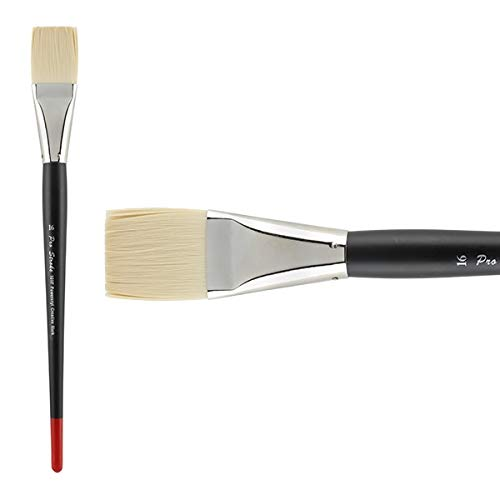 Creative Mark Pro Stroke Powercryl Paint Brush Professional Acrylic Brush with Synthetic Hair Filament Use with Acrylic Paint and Water Soluble Oils - Single Brush Only - Flat 16