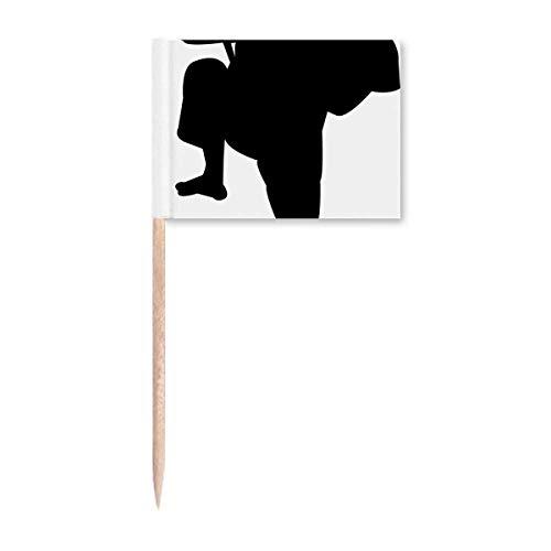 Shaolin Kung Fu China chinesische Kampfkunst Zahnstocher Flaggen Marker Topper Party Dekoration